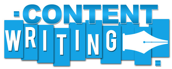 Content Writing Blue Stripes
