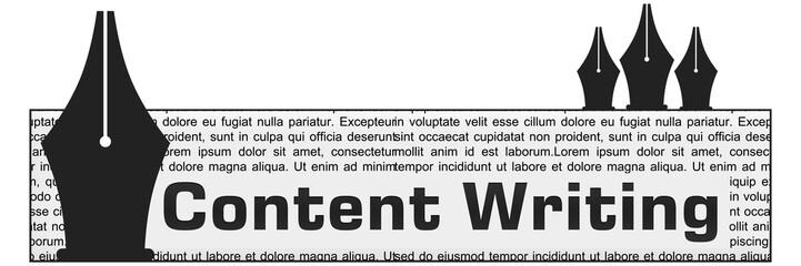 Content Writing Block Vertical Pens
