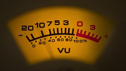analog vu meter ausschlag