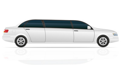car limousine vector illustration