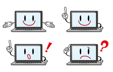 ノートパソコン キャラクター 表情セット