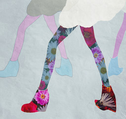 legs in shoes, winter collection, cool