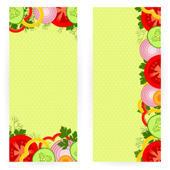 Vegetable backgrounds