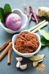 Ingrédients pour pâte de curry