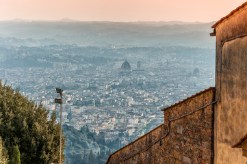 view of Florence from Fiesole. Tuscany, Italy
