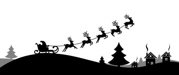 Weihnachten Elche Wald