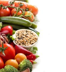 Black eyed peas and vegetables