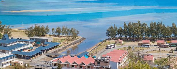 Port-Mathurin, marché et gare routière, Rodrigues