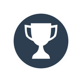 Reward flat icon in dark circle