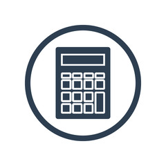 Calculator flat  icon in circle