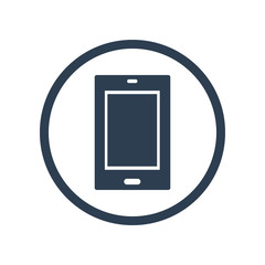 Tablet flat icon  in circle
