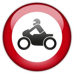 Button Patch Motorradfahren verboten