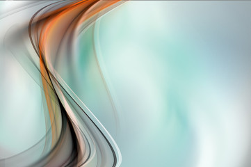 Gold wave abstract
