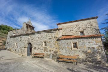 Wide angle of Pobladura de Aliste church