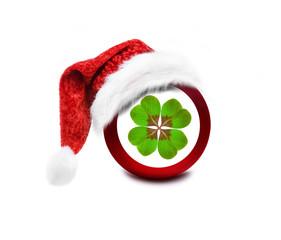 Weihnachtskugel mit Kleeblatt