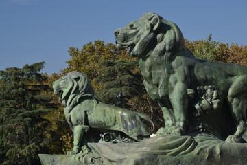 Leones de bronce (El Retiro, Madrid)