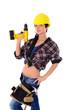 Frau als Handwerker