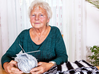 Grandma when knitting