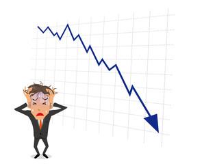 ビジネスマン 苦悩 グラフ