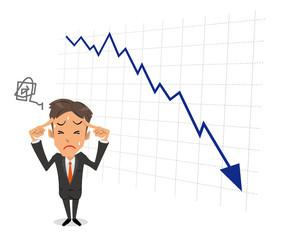 ビジネスマン 困る グラフ
