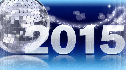 Diskokugel 2015 - Blau