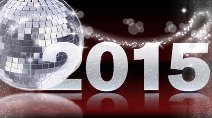 Diskokugel 2015 - Rot
