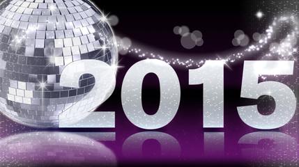 Diskokugel 2015 - Lila
