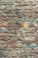 Muro di pietre, muratura restauro, sfondo trama texture