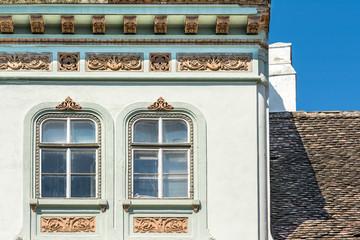 Old Medieval House Windows Facade