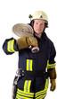 Leinwanddruck Bild - Feuerwehrmann