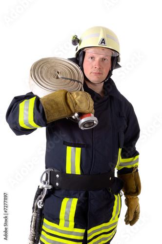 Leinwanddruck Bild Feuerwehrmann