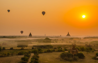 Bagan at sunrise, Myanmar