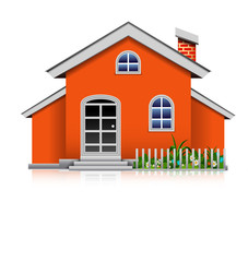 orange house isolated