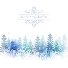 雪 冬 景色 背景 Holiday background with snow scenery