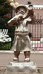 statue 'Rabbi with shofran' in Birobidzhan