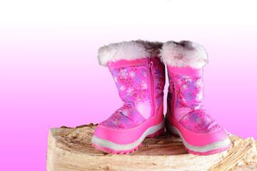 Stivaletto da bamdina, rosa, scarponcino rosa bimba