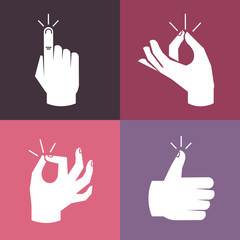Vector set of hands and gestures