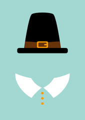 Thanksgiving Abstract Pilgrim Retro