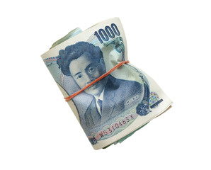 wrapped of Japanese yen notes. Currency of Japan