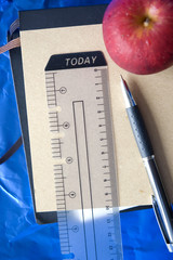 stationery with apple