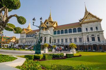 Royal grand palace in Bangkok , Thailand