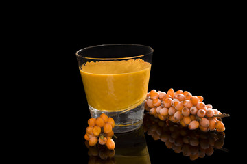 Sea buckthorn juice.