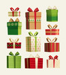 Gift set. Christmas card - 72774743