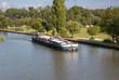 Péniche sur le canal à Charmes, Vosges, France - 72774917