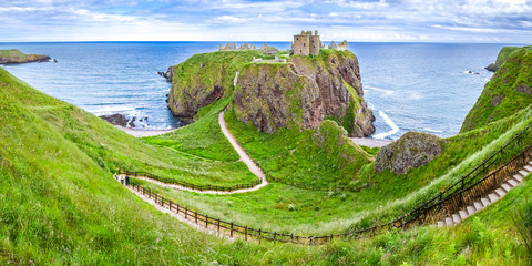 Panorama of Dunnottar Castle, Aberdeenshire, Scotland