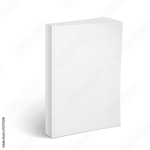 Blank vertical softcover book template. - 72775308