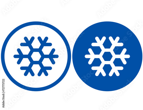 two snowflake signs