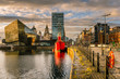 Leinwanddruck Bild - Liverpool Waterfront at Sunset