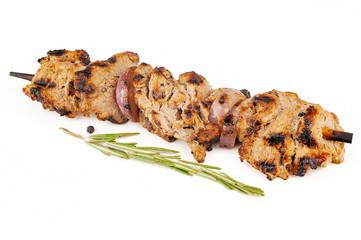 Grilled beef kebab