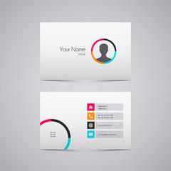 Carte de visite design - business card design coloré moderne